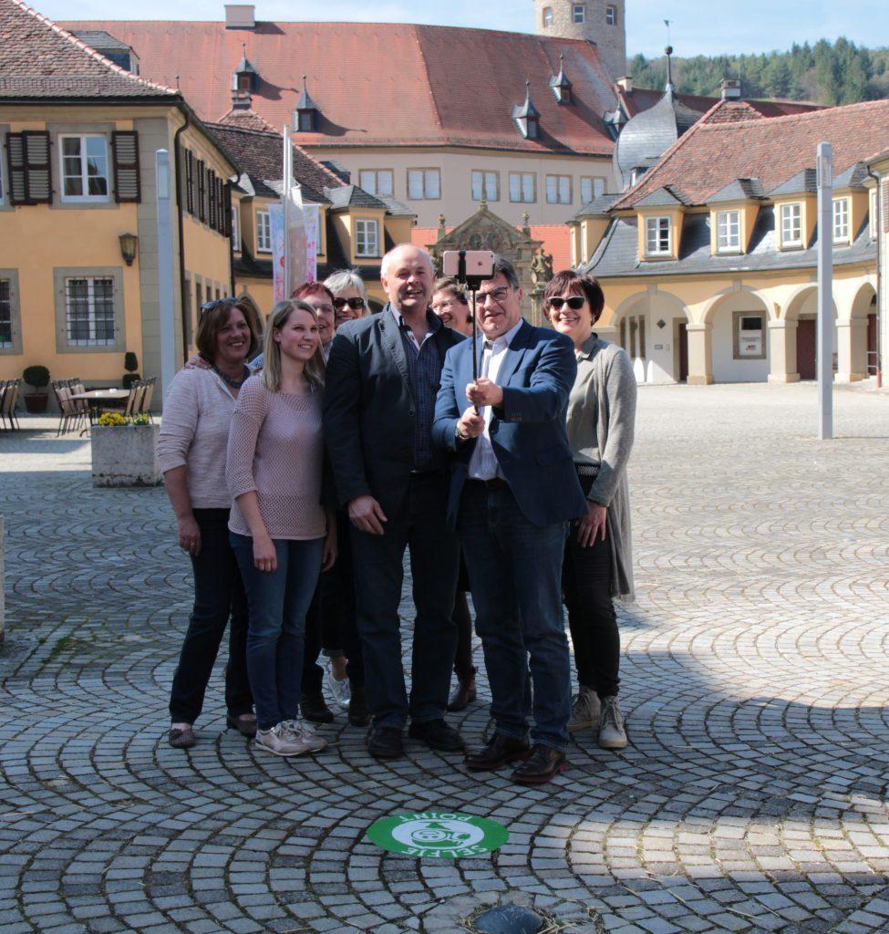 Selfie-Point am Marktplatz in Weikersheim